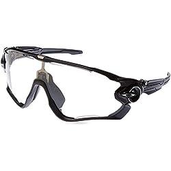 Oakley Sonnenbrille Jawbreaker, Gafas de Sol para Hombre, Polished Black, 1