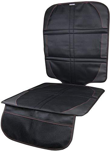 KOKOTEX Kindersitzunterlage, Isofix geignet, Schwarz, 1 Stück, Autositzauflage, Autositzschutz, Sitzschoner, Schutzunterlage gegen Beschädigungen