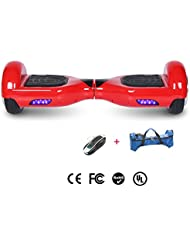 Cool&Fun Hoverboard 6,5 pouces Smart Scooter Skateboard Électrique Gyropode 2x350W (Rouge)