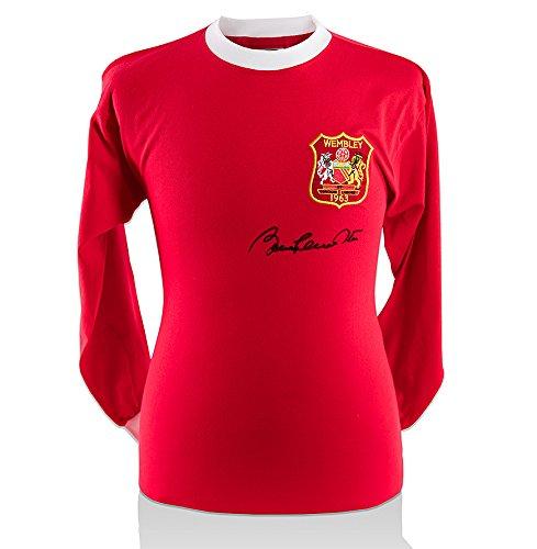 Sir Bobby Charlton Signed Manchester United Shirt – 1963 FA Cup – Black Signature