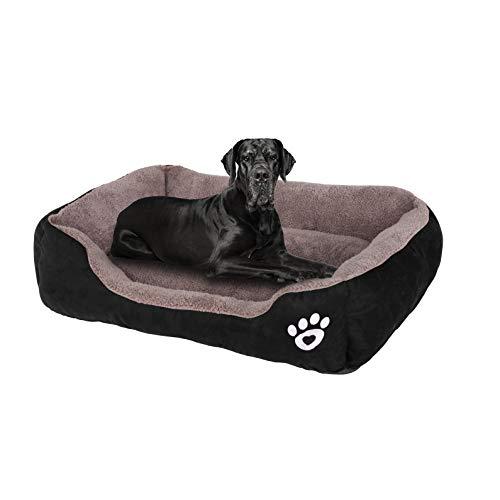 FRISTONE Hundebett Katzenbett Weich HundeKorb für Kleine Mittelgroße Große Hunde Waschbar Hundesofa Hundekörbchen m l XL XXL Grau Rot Schwarz Braun -