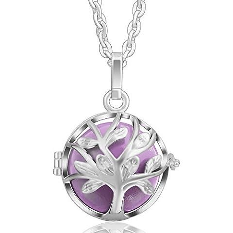 Eudora Harmony-Ciondolo a forma di albero della vita, argento Sterling, gioielleria collana Lockets