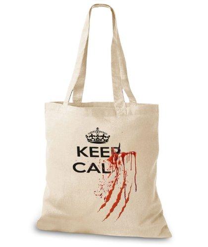 StyloBags Jutebeutel / Tasche Keep Calm.... Natur