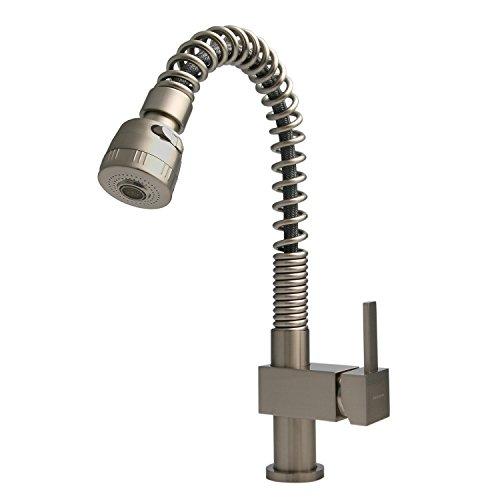 Preisvergleich Produktbild Burgtal 10196 K-42-E Erath Einhebel Spültisch Armatur mit Brause Edelstahl-Look