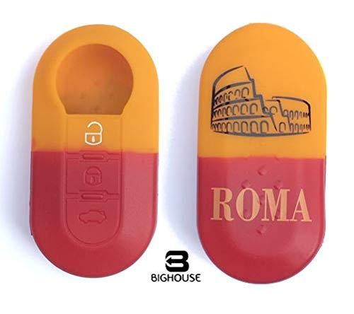 Tech11 FIAT - Protezione in silicone per telecomando chiave FIAT - FIAT 500 - PANDA (DAL 2012) - BRAVO - PUNTO - 500L - LANCIA YPSILON (DAL 2011 IN POI) - DELTA - DOBLO' - MUSA (ROMA)