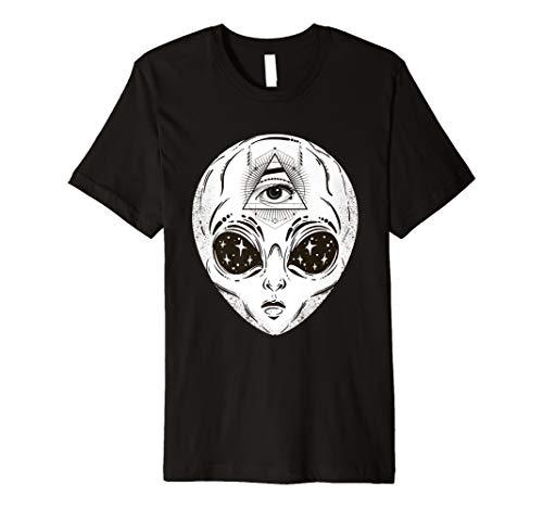 r Symbol Allsehendes Auge Alien T-Shirt ()