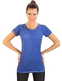 Toni - Torquoise T-shirt à manches courtes à manches courtes en coton à manches courtes en coton par GEAR