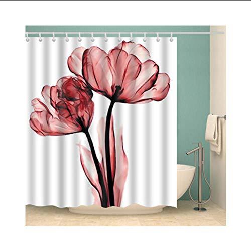 hysxm Duschvorhang Bunte Umweltfreundliche Polyester Hochwertige Waschbar Bad Dekor Duschvorhang 1 Stücke-160(H)*180(W) cm