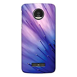 DASM United Moto Z Premium Back Case Cover - Abstract Blue Flower Tentacles