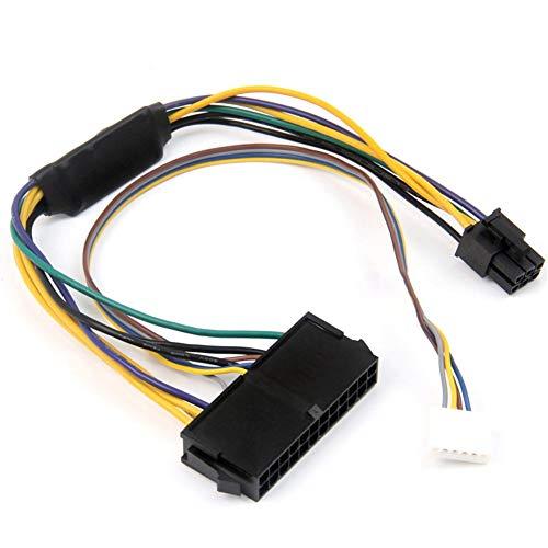 winnerruby Netzkabel/Adapter 24-Pin auf 6-Pin für HP Elite 8100 8200 8300 800G1 ATX 2-Port 6-Pin PCI-E, verbunden mit einem HP Motherboard - Gender Changer-modell
