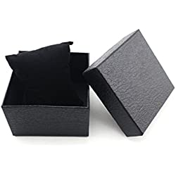 Tonsee 1pcs Geschenk Box Case für Armreif Armband Schmuck Uhr mit Schaumstoff Pad innen vorhanden,schwarz
