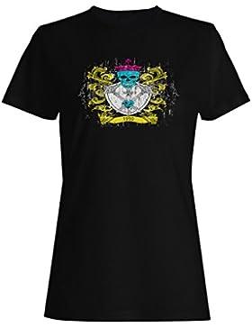 Skull Crown año nueva novedad 1990 camiseta de las mujeres hh97f