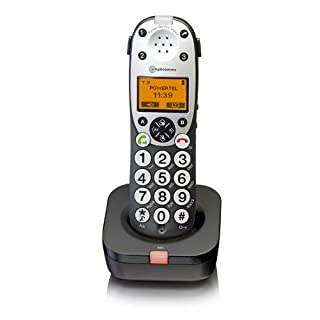 Amplicomms Powertel 711 Voice Assisted Cordless DECT Additional Handset - Anthracite