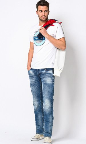M.O.D Herren Straight Leg Jeans Thomas Blau