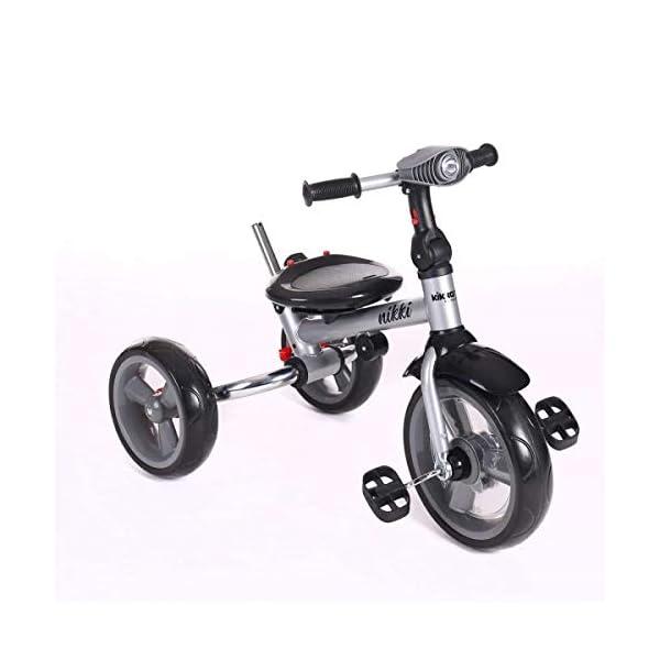 Kikka Boo 31006020043 Sports Trolley Kikka Boo KIKKA BOO strollers and strollers Sports prams and strollers for unisex children. Nikki Tricycle Melagne Grey (31006020043) 6