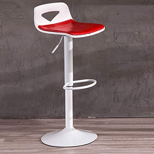 360 ° Drehbarer Barhocker, Kostenloser Lift Verstellbarer Barhocker, Komfortabler und Haltbarer Ölwachshocker, Frühstücksküche für Den Frühstücksraum (Farbe : Rot) -