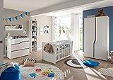 Froschkönig24 Mara Babyzimmer Komplettset Kinderzimmer Set Weiß Hochglanz