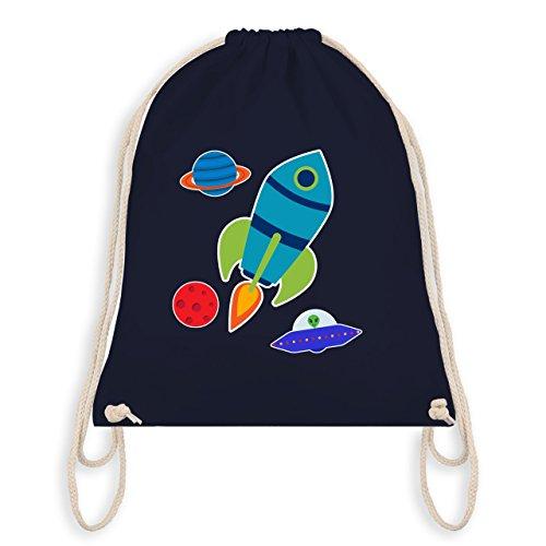 Bunt gemischt Kinder - Comic Weltall - Unisize - Navy Blau - WM110 - Turnbeutel & Gym Bag