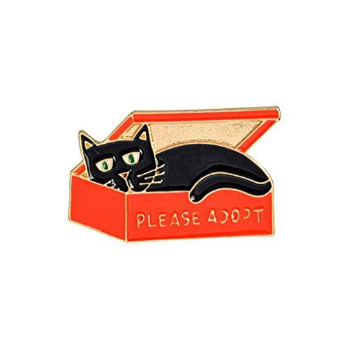 Republe Karikatur-Geist-Katze-Vogel-nette Art-Tropfen-Öl-Broschen Badge Frauen-Mädchen-Kinder Kleidung Tasche Breastpin Brosche