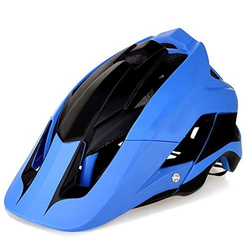 S-TK Abus fahrradhelm Fahrradhelm Fahrradhelm Outdoor Schutzhelm Ausrüstung Integriertes Formteil Skelett Mit Insektennetz LED Warnlicht Helm Blau abus aduro