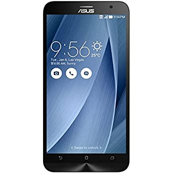 "Asus Zenfone 2 - ZE551ML - Smartphone libre Android (pantalla 5.5"" Full-HD, cámara 13 Mp, memoria interna de 32 GB, Intel Atom Z3580 Quad Core 2.3 GHz, 4 GB de RAM, dual SIM) color plateado"