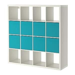 ikea kallax drona tag re avec 8 compartiments blanc 147 x 147 cm cuisine maison. Black Bedroom Furniture Sets. Home Design Ideas
