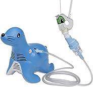 Romsons Sami the Seal Compressor Nebulizer Machine with Mask and Side stream Nebulizer, Paediatric Aerosol The
