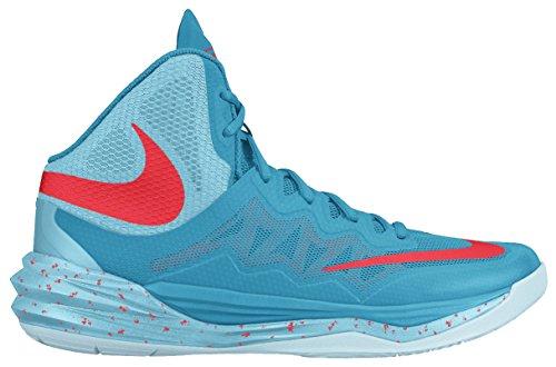 Nike Prime Hype DF II, Scarpe da Basket Uomo, Nero, Talla Blu / Arancione (Bl Lgn/Brght Crmsn-Td Pl Bl-Ic)