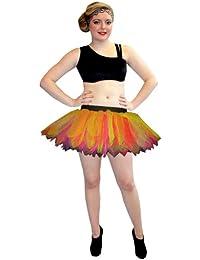 Neon UV 7 Layers Peacock Tutu Skirt