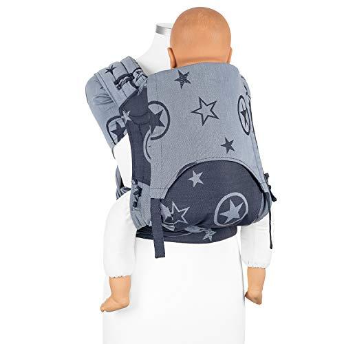 Fidella FlyClick Plus marsupio ergonomico Half Buckle I porta bebè con cintura addominale I 100% cotone organico I adattabile per bambini fino a 30 kg