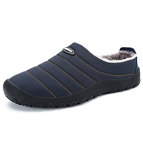 SPEEDEVE Pantofola Invernale Uomo Donna all'aperto/Interno Pantofola Casa Scarpe di Cotone Blu