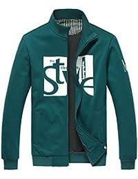 Amurleopard Veste Blouson Baseball Style homme Casual Hoodie Outerwear sport zippe
