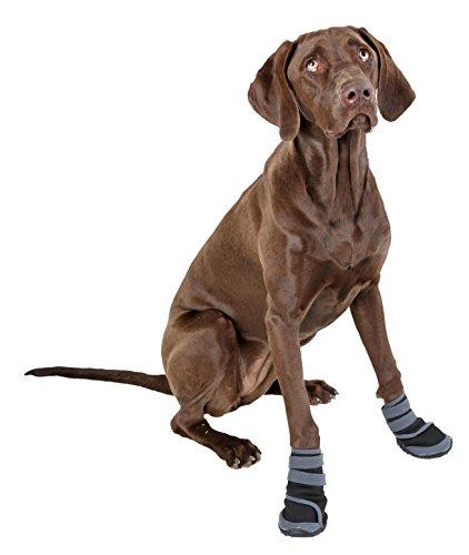 Kerbl 80608 Pfotenschutz für Hunde – Hundeschuhe XL – grau/schwarz - 4