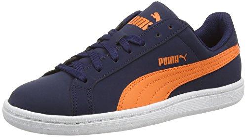 Puma Puma Smash Buck, Unisex-Erwachsene Sneakers Mehrfarbig (peacoat-vermillion Orange)