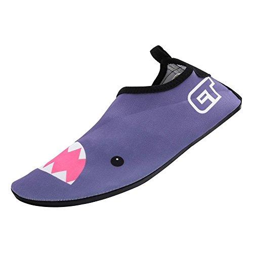 Eagsouni® Chaussures de plage et piscine Chaussure aquatique Sport deau Chausson Water Shoes #9Gris