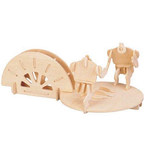 Etna Ilawa Stiftehalter Ringen 3D Holzbausatz Stiftebox Steckpuzzle Holzpuzzle S018