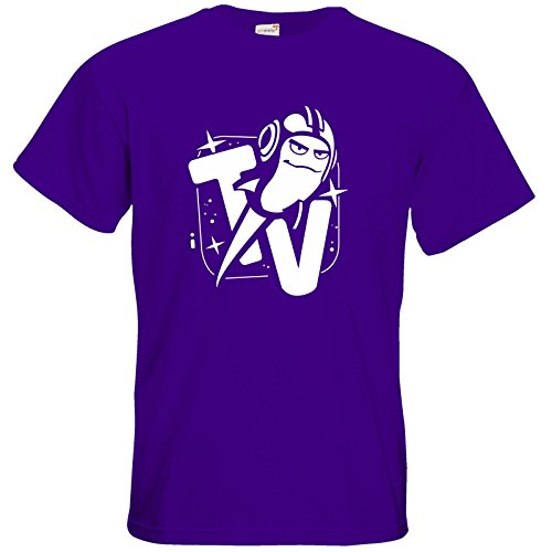 getshirts - Rocket Beans TV Official Merchandising - T-Shirt - Senderlogo SW Purple