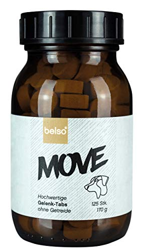 belso Move 125 Gelenktabletten Hund als Leckerli aus Deutschland ohne Getreide, Grünlippmuschelpulver MSM Teufelskralle Gelenkkapseln für natürliche Gelenkkraft Gelenke Hund Gelenk Tabletten