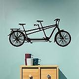 Adesivi murali Adesivi in vinile trasporto Tandem Bicicletta Staccabile Creativo Decorazione per la casa 131X58Cm