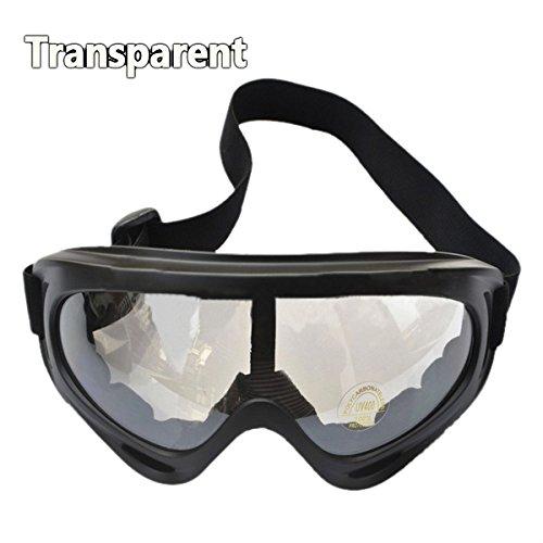 SODIAL (R) UV400 Sci Snowboard occhiali motoslitta Moto Occhiali protettivi Occhiali Lens - trasparente