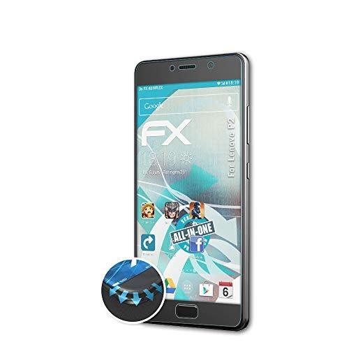 atFolix Schutzfolie passend für Lenovo P2 Folie, ultraklare & Flexible FX Bildschirmschutzfolie (3X)