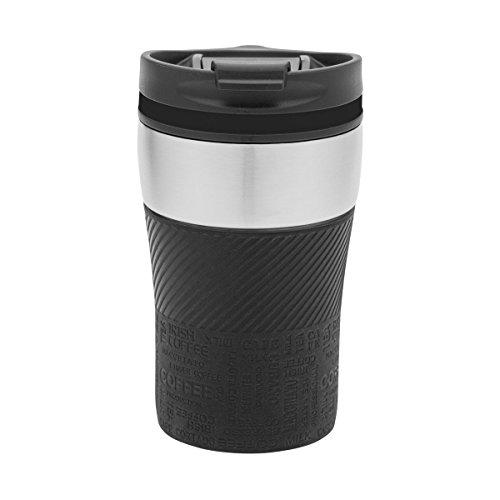 Thermobecher to go - passt unter jeden gängigen Kaffeeautomat Farbe schwarz, silber
