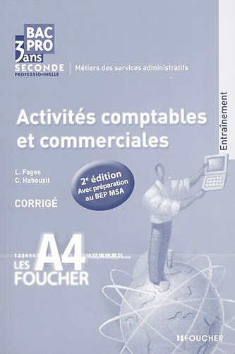 Activités comptables et commerciales