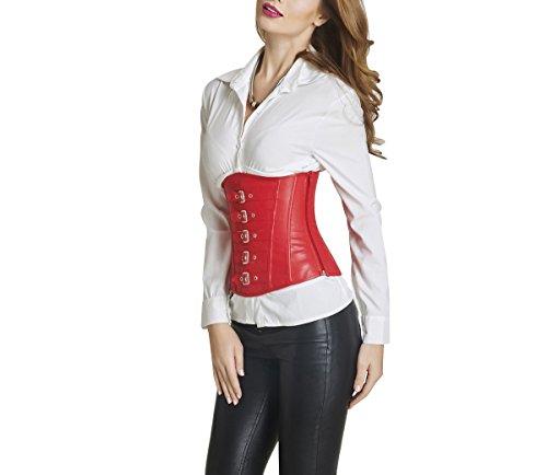ZAMME Damen Synthetik Leder Schnürsenkel Unterwäsche Korsetts Und Bustiers (28 Kostüm Plus Size)