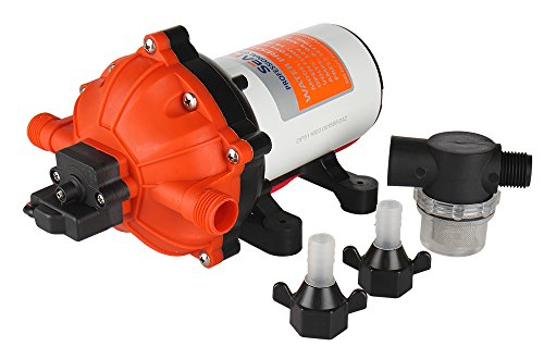 SEAFLO 12V 5.5 GPM 60 PSI Water Diaphragm Pressure Pump by Seaflo - Barbed Port