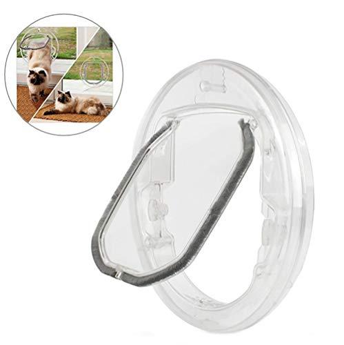 Katzenklappe, Hundeklappe Mit 4 Möglichkeiten Verriegeln Runde Klar Katze Klappe Für Den Einbau In Glas, Holz, Metall