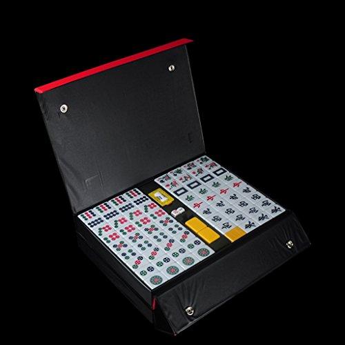 LI JING SHOP - Mini Hand Reiben Mahjong Karte / leicht zu tragen Reise Dorm Zimmer Mahjong / Bright Gelb Small Home Mini Mahjong Karte ( größe : L-3.4*2.6*2.0CM )