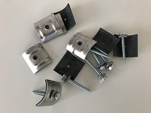 Set aus Schrauben + Kalotten 100 Stück für Trapez-Sinus 76/18 Wellplatten 6,5x50 mm PMMA für...