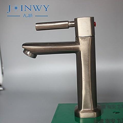 Furesnts casa moderna cucina e bagno rubinetto la rana spazzolato singolo bacino freddo in lega di zinco raccordi Lavabo,(Standard G 1/2 tubo flessibile universale porte)