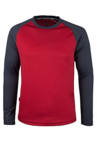 Mountain Warehouse Endurance Mens Long Sleeved Top Red X-Large